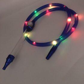 LED silicone Hookah hose| Aluminum handle shisha hose | Hookah hose